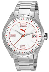Puma Time Herren-Armbanduhr XL Driver 3HD Metal- L Silver Analog Quarz Edelstahl PU102611004