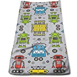Bikofhd Cute Robots on Gray Microfiber Lightweight Soft Fast Drying for Gym Beach Travel Fitness Exercise Yoga...