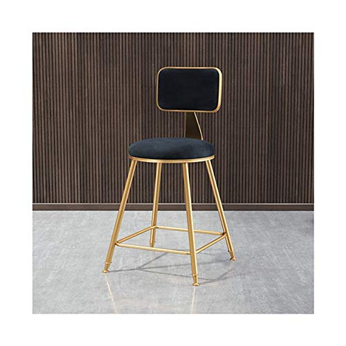 Price comparison product image Nwn Dining chair Nordic casual tea shop bar network red chair coffee restaurant stool back dresser bar table chair (color : BLACK, Size : S)