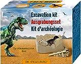 Giocattoli Modellino Archeologia Paleontologia Set Roccia da Scolpire con Dinosauro Velociraptor Serie T-Rex world