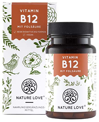 Der VERGLEICHSSIEGER 2018*: Vitamin B12 - 1000 µg. 180 Tabletten. Beide bio-aktive B12 Formen...