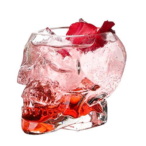 Ardorlove Cocktail Glasses Bones Armor Warrior Skull Designed Glass Cup Wine Gothic Mug for Home Barware Drinkware Whiskey Wine Skull Cup Sherry Glasses