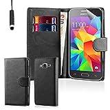 32nd Étui Portefeuille en Cuir PU Flip Coque pour Samsung Galaxy Core Prime, Housse avec fentes CB et Fermeture Magnétique - Noir