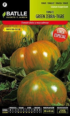 Batlle Gemüsesamen - Tomate Green Zebra - Tigre (175 Samen)