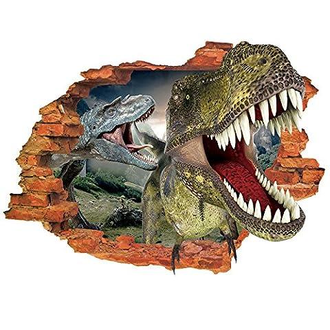 XBRcartoon - wand - aufkleber _ dinosaurier - aufkleber wohnzimmer dekorative wasserdicht pvc - großhandel,Typeset 50 × 70 (Großhandel Wand-aufkleber)