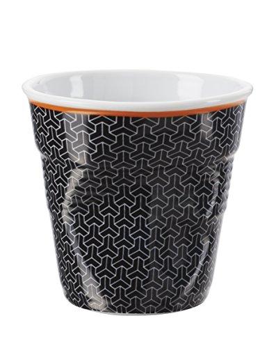 Revol 647651 Froisses Gobelet Espresso Porcelaine Melie 6 cm - Lot de 6