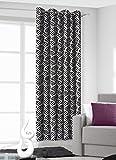 140x245 cm schwarz + weiß Vorhang Vorhänge Blickdicht Fensterdekoration Gardine Ösenschal black + white 70