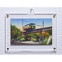 Cornice in acrilico con perni magnetici for 10,5 x 15,0 cm montabile a parete in con orientamento in orizzontale - Foto Cartolina Postale