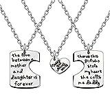 Best Trois clés Bijoux Bracelets Charm - AGR8T Pendentif Ensemble Collier Mother Daughter Daddy Love Review