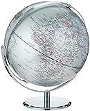 Globe Collection - Globo terráqueo (30 cm), color plateado
