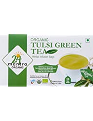 24 Mantra Tulsi Green Tea, 25 Bags