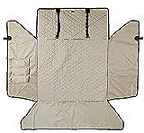 Z&K Kofferraumschutzdecke Mit Seitenschutz und Ladekantenschutz Robuste Schutzmatte für Hunde,Beige