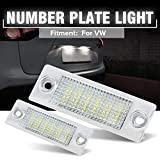 DONGMAO 2pcs 18 LED License Number Plate Lights Lamp For V/W T/ransporter T5 C/addy T/ouran G/olf P/assat