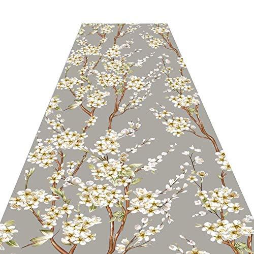 LEBAO Runner Teppiche Für Flur Floral Design Print Machine-Made Feuchtigkeitsfeste rutschfeste Für Wohnwagen/Flur Home Decor, Mehrere Größe (Color : A, Size : 0.65 * 2m) -