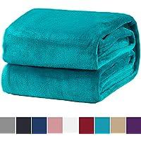 Bedsure Plaid Couverture Polaire Turquoise 200x150cm - Couverture de Lit  Douce et Chaude Plaid Jeté de 42bd0751e5a
