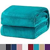 Bedsure Kuscheldecke Türkis Flauschige Decke, extra weich& warm Wohndecke in Wohnzimmer, 150x200 cm Flanell Fleecedecke, Falten beständig/Anti-verfärben als Sofadecke oder Bettüberwurf
