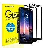 AILRINNI Verre Trempé Xiaomi Redmi Note 6 Pro, [Pack de 2] Film Protection en Verre Trempé Protection écran [Couverture Complète] Anti-Rayure Résistant Screen Protector pour Xiaomi Redmi Note 6 Pro