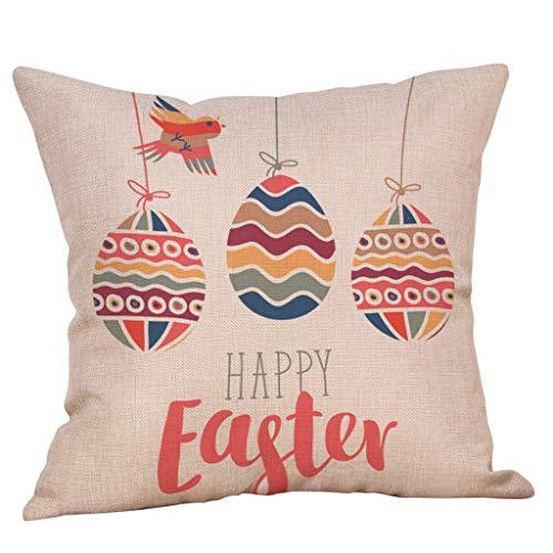 2019 nuovo elegante tipico easter square 45cm×45cm/18×18 pollice linen soft rabbit stampa divano federa letto decorazione della casa cuscino unico by wudube