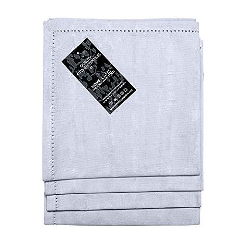 Homescapes - Four - White - Napkins - 100% Cotton