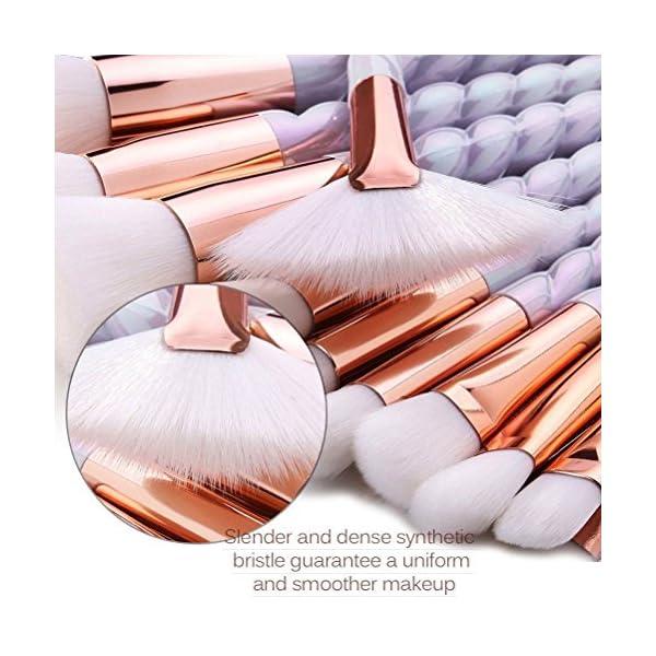 Juego de brochas de maquillaje Free-Air, brochas con mango de diseño de unicornio; para base, colorete, corrector de…