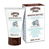 Hawaiian Tropic Sensitive Skin Face - Loción Solar Protectora para el Rostro especial para Piel Sensible con protección Muy Alta SPF 50, fórmula No Grasa y resistente al agua, formato Facial 60 ml