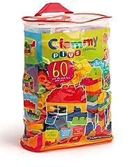 Idea Regalo - Clementoni 14880 - Clemmy Plus Mattoncini, Sacca 60 Pezzi