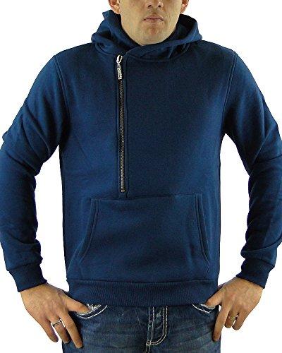 R-NEAL Herren Kapuzen Pullover Hoodie Größe S-XXL Blau
