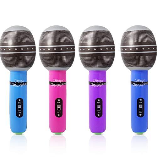 (EPRHY aufblasbares Mikrofon-Set, 25,4 cm, für Kinder, aufblasbares Spielzeug (6 Stück))