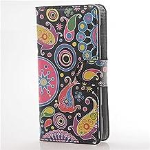 Sony Xperia L C2105 Funda Carcasa,PU Leather Wallet Funda Carcasa flip cover para Sony Xperia L S36H C2104 C2105 Funda Carcasa con Función Soporte-Medusas
