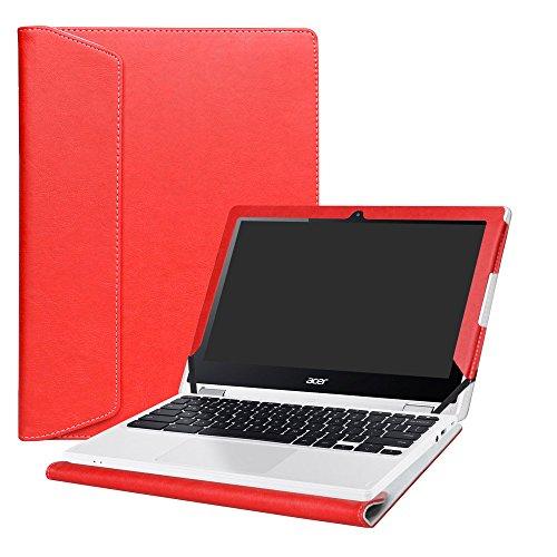 "Alapmk Schutz Abdeckung Hülle für 11.6"" Acer Chromebook R11 R 11 CB5-132T C738T / Chromebook 11 CB3-131 CB3-132 Series Notebook,Rot"