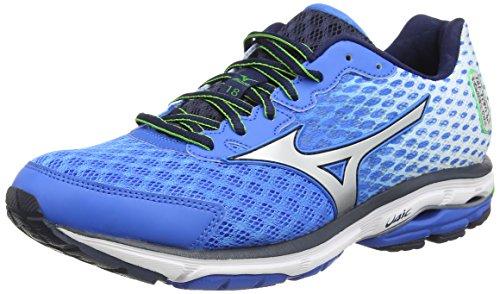 mizuno-wave-rider-18-scarpe-sportive-uomo-blu-bleu-electric-blue-lemonade-43