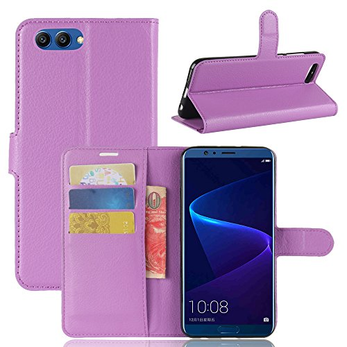 Huawei Honor V10 Durable Protective Case Protective skin Casefirst Protective Skin Double Layer Bumper Shell Shockproof Impact Defender Protective Case Durable Protective Case for Huawei Honor V10 , Purple (Wi Facetime)