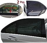 Parasole Auto , Pieghevole Parasole - Protegge il tuo bambino e bambini più grandi dal sole - Per vetri posteriore laterale - si adatta a tutte le vetture (99%), la maggior parte dei SUV - 2 Pcs - WildAuto