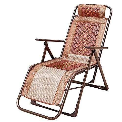 Mahjong Bambus-Teppich für den Sommer, neigbar, Siesta für Büro im Freien, tragbar, Strand, Angeln, Braun B