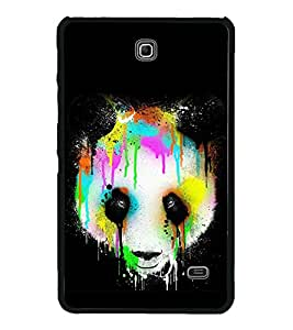 Colourful Panda 2D Hard Polycarbonate Designer Back Case Cover for Samsung Galaxy Tab 4 :: Samsung Galaxy Tab 4 T231