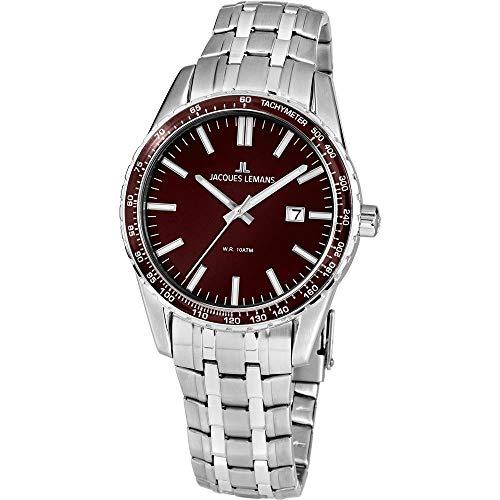 Jacques Lemans Liverpool Homme 44mm Quartz Analogique Montre 1-2022J