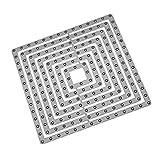 Xmiral Fustelle per Scrapbooking per Carta Cutting Dies Metallo Fustella Stencil #19042609, Accessori per Big Shot e Altre Macchina(I)