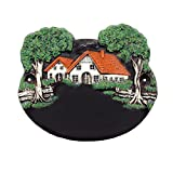 Großes Keramik-Türschild für die Haustür mit Text (26x22cm), Namensschild Landhaus Tonschild für den Eingang Wohnungstür