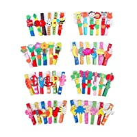 18 Multi Coloured Funky Fun Wooden Clothes Pegs Party Goodie Bag Gifts