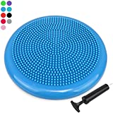 Extra Thick 34cm Balance Cushion, Balance Board, Air Stability Wobble Board, Wobble Cushion, Posture Trainer with Free Pump, TRIDEER Anti-Burst Fitness Stability Pad in Anti-Slip Surface - Great for Improving Core Strength & Relieving Back Pain - Available in multicolor