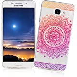 XiaoXiMi Coque Samsung Galaxy A3 2016 SM-A310F Housse Transparent Etui en Silicone Soft Clear TPU Case Cover Housse Souple de Protection Coque Mince Léger Etui Flexible Lisse Couverture Anti Rayure Anti Choc Housse avec Désign Simple - Tournesol Rose Vif