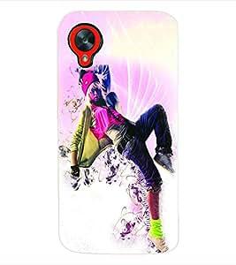 Fuson 3D Printed Dance Designer Back Case Cover for LG Google Nexus 5 - D650