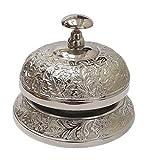 Parijat artisanale Hand Held Service Call Bell 12,7cm L. Aluminium Cloche d'appel Cadeau idéal pour bureau à domicile, à l'école, professeur, nautique, Aluminium, Desk Bell...