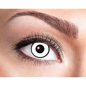 Eyecatcher – Farbige Wochenlinsen Kontaktlinsen, Zombie, 2 Stück Wochenlinsen, weiss, / BC 8.6 mm / DIA 14.5 mm