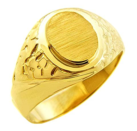 Little Treasures - 10K Men's Solid Gold Jovian Signet Ring