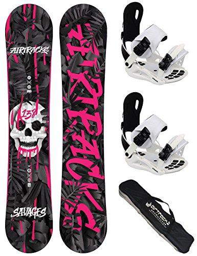 Airtracks Damen Snowboard Set - Board Savage Lady 144 - Softbindung Master W M - SB Bag -