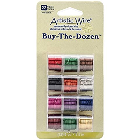 Artistic Wire Buy The Dozen Colored Wire 5 Yards 12/Pkg 22 Gauge Dark BTD-22