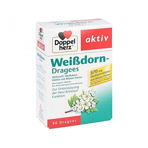 DOPPELHERZ Weißdorn Dragees 90 St Überzogene Tabletten