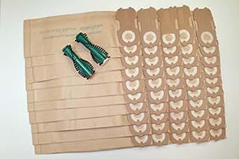40 sacs 2 brosses compatibles vorwerk kobold vk118 vk122 gros lectrom nager. Black Bedroom Furniture Sets. Home Design Ideas