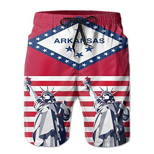 Feng Huang Arkansas Flag Freiheitsstatue Herren Beach Shorts Board Badehose. M